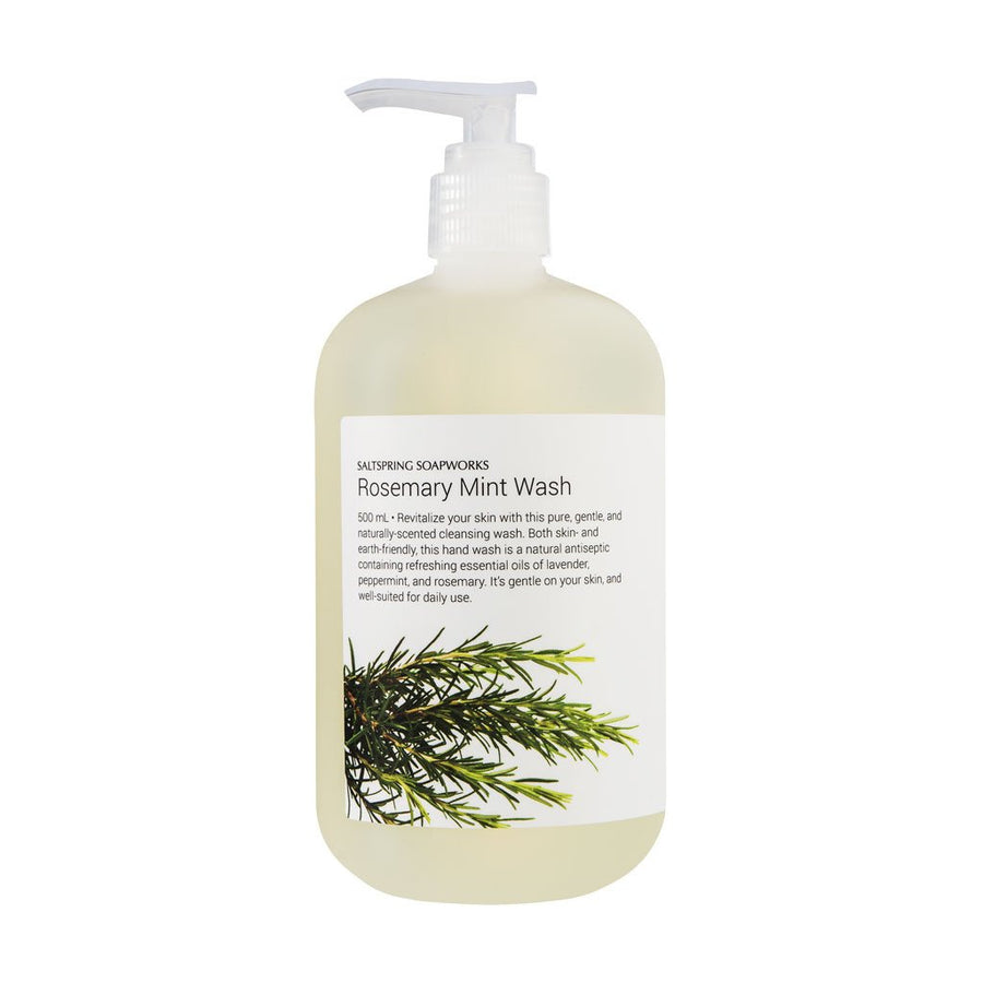 salt spring soapwords rosemary mint wash