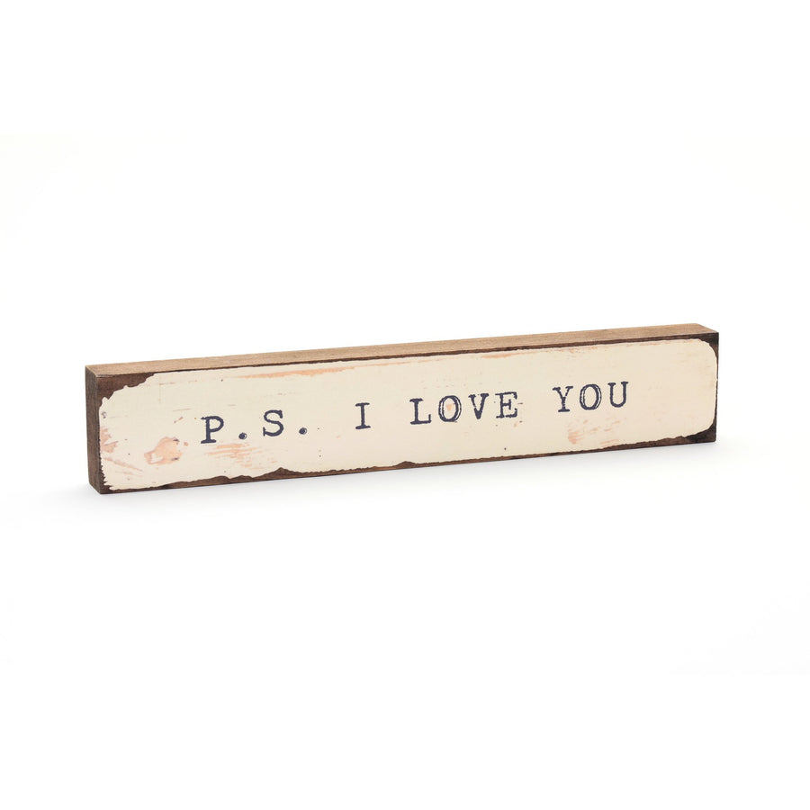 wood art block p.s. i love you
