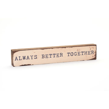 wood art block always better together