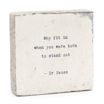 wood art block dr. suess quote cedar mountain studios