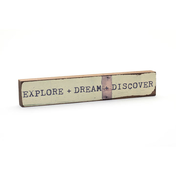wood art block explore dream discover cedar mountain studios