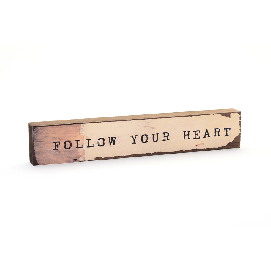 wood art block follow your heart cedar mountain studios