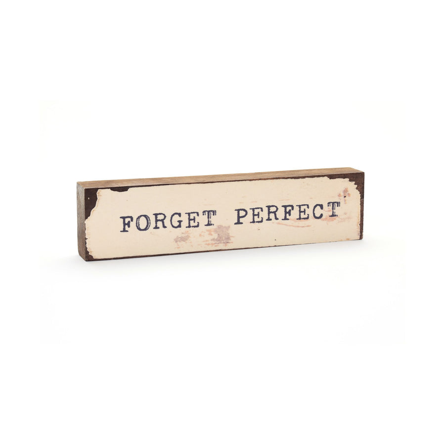wood art block forget perfect cedar mountain studios