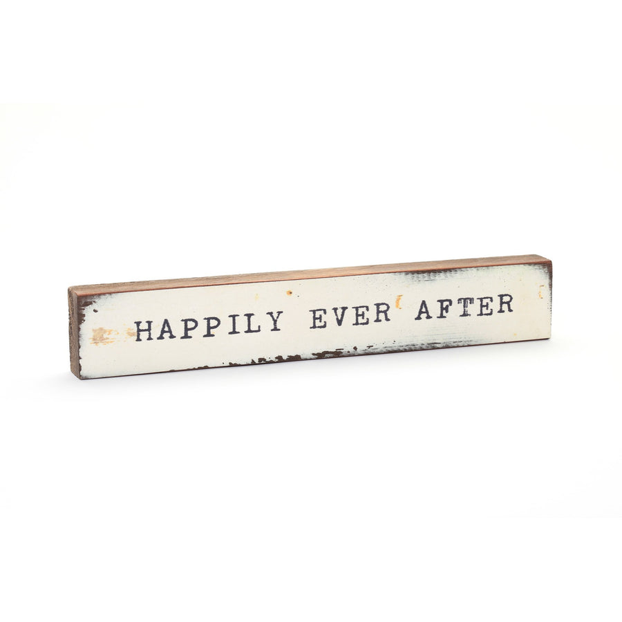 wood art block happily ever after