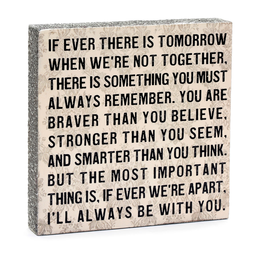 wood art block if ever I will always be with you