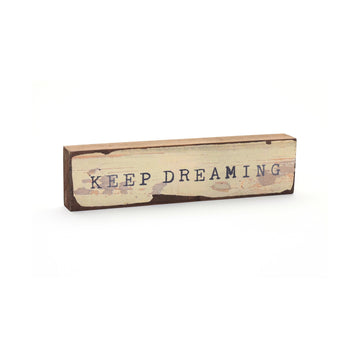 wood art block keep dreaming cedar mountain studios
