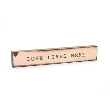 wood art block love lives here cedar mountain studio