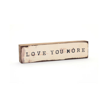 wood art block love you more cedar mountain studios