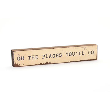 wood art block oh the places you'll go