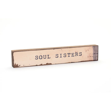 wood art block soul sisters