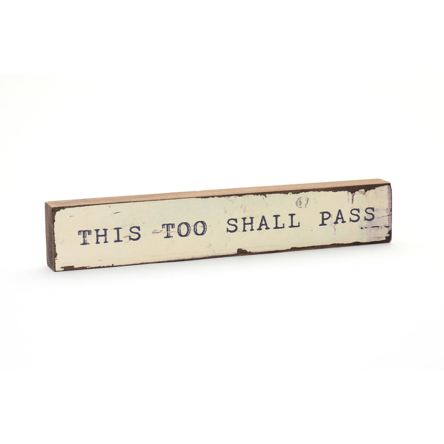 wood art block this too shall pass cedar mountain studios