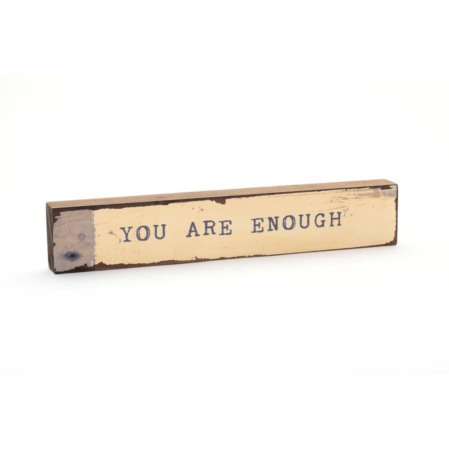 wood art block you are enough