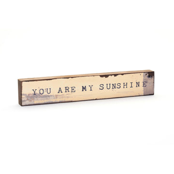 wood art block you are my sunshine