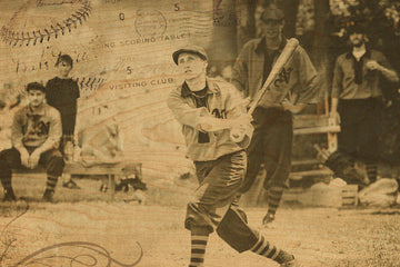 wood postcard Baseball