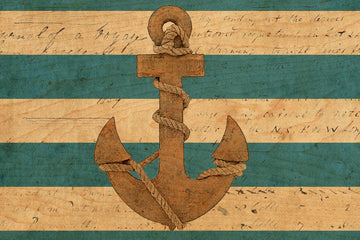 wood postcard anchor