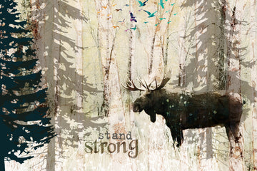 wood postcard moose-standstrong