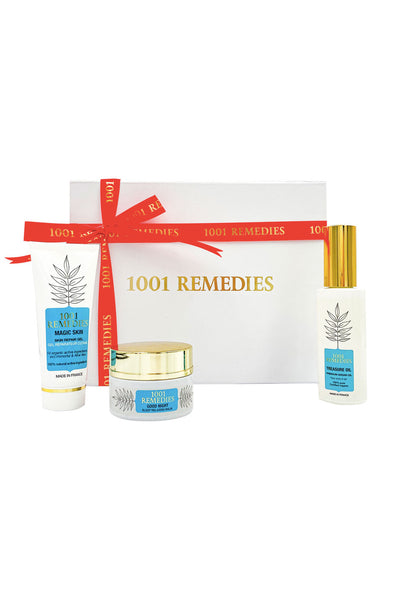 1001 Remedies Mum Gift Set - Acne Spot Cream, Sleep Sid & Argan Oil