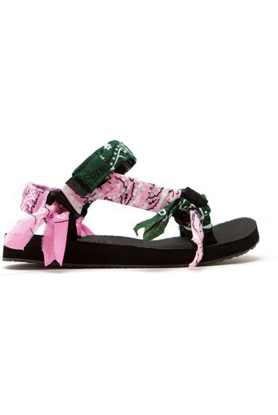 Arizona Love Trekky Pink Green Bandana Sandals