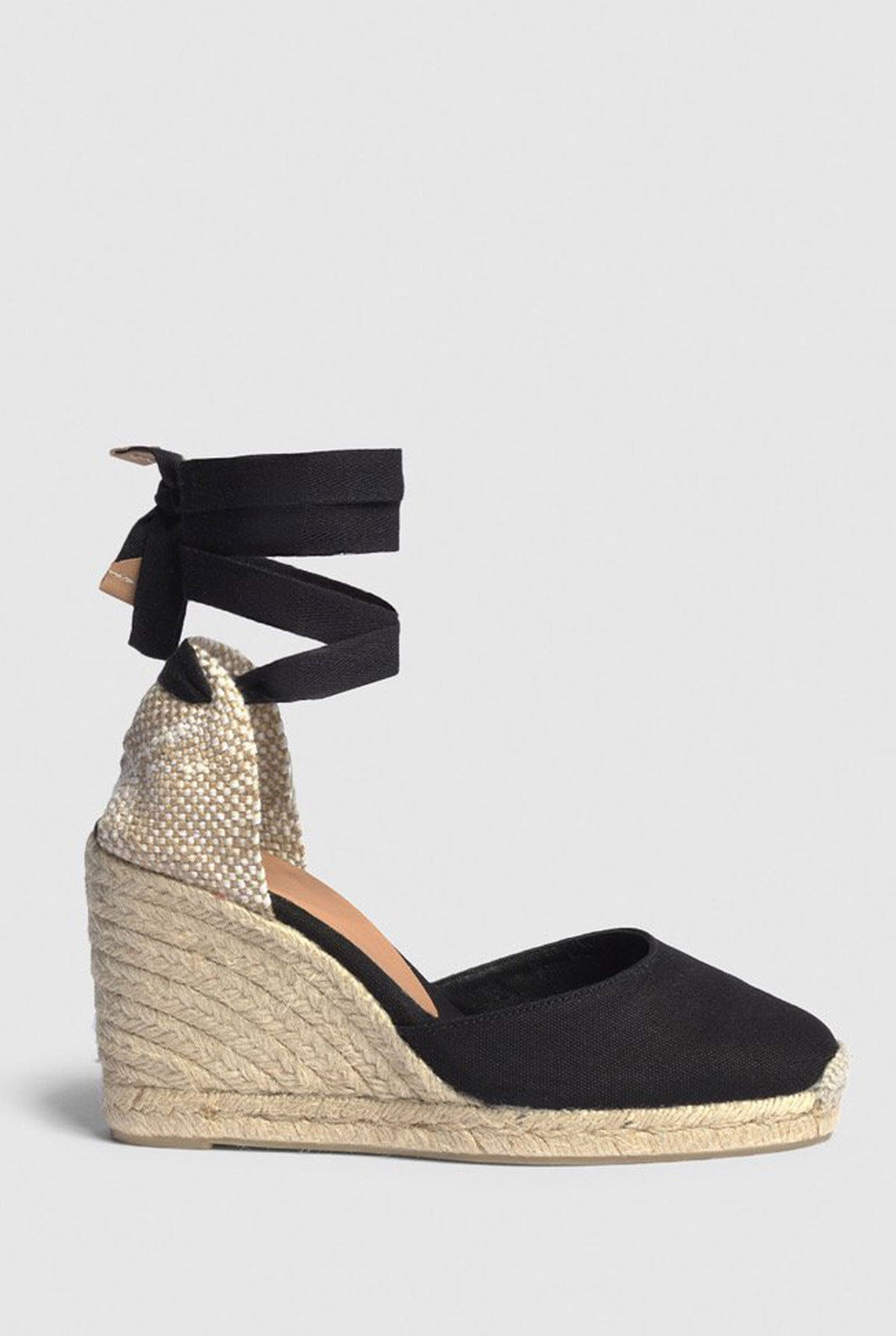 Castañer Espadrille with wedge Carina made in canvas 9cm - Black - EU36 Black