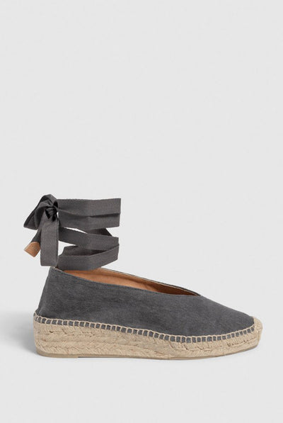 castaner Gea. Wedge ballet espadrille made of canvas - Charcoal