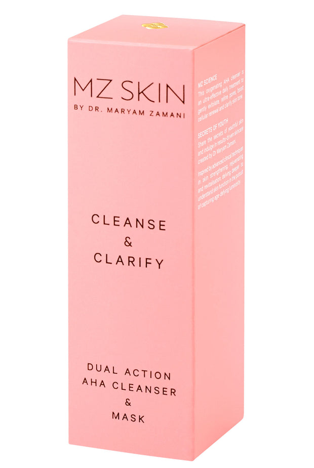 CLEANSE & CLARIFY Dual Action AHA Cleanser & Mask by MZ Skin