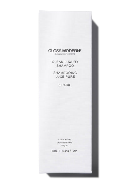 Clean Luxury Travel Shampoo (5-pack) by Gloss Moderne