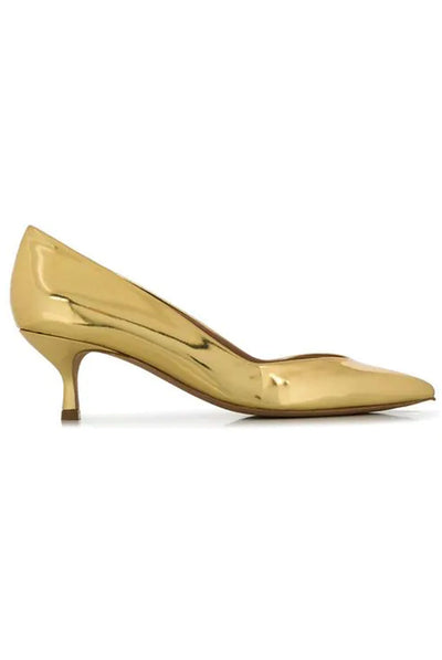 Valerie Pumps in Gold by Golden Goose.