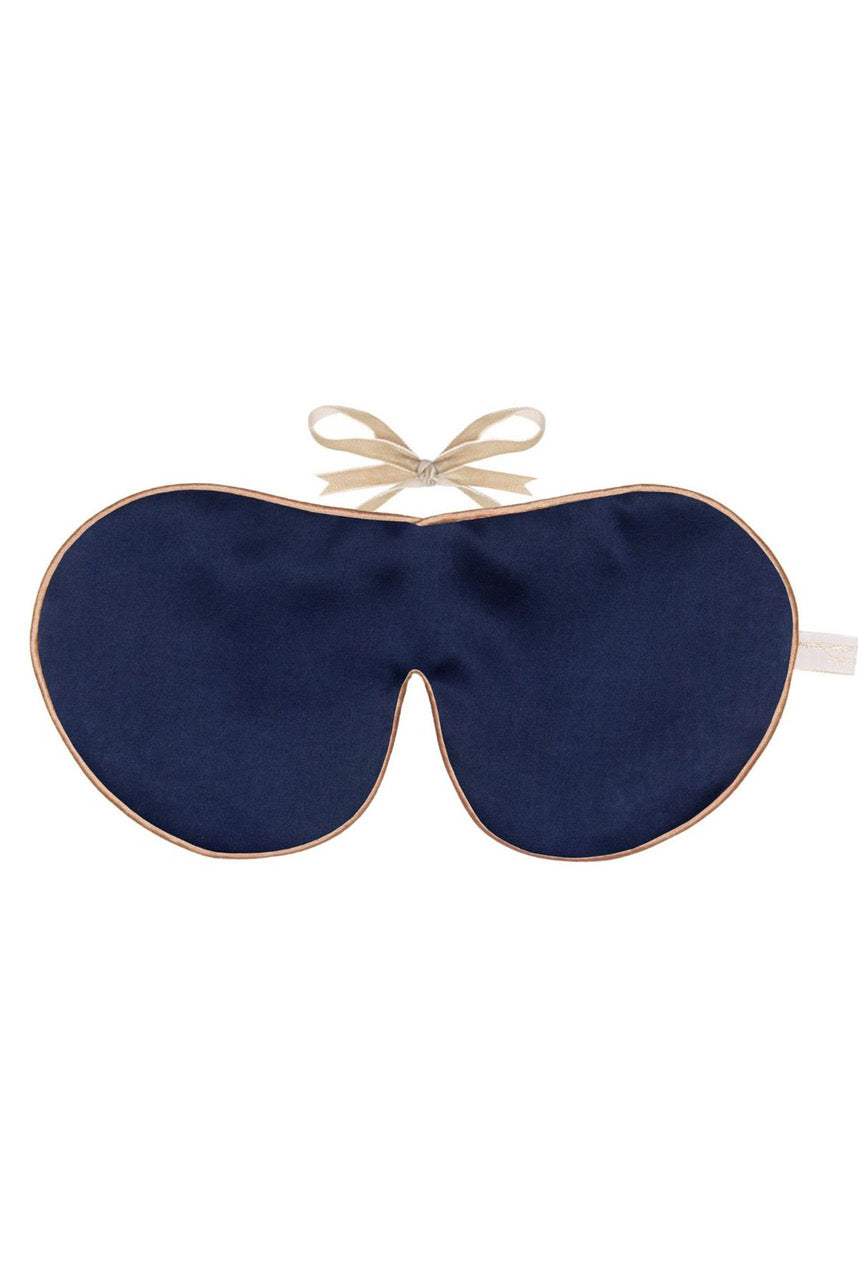 Holistic Silk Pure Mulberry Silk Eye Mask in Navy