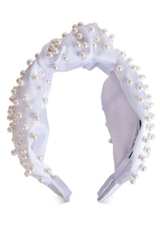 Oxygen Boutique Sasha Silk Pearl Headband White Alice & Blair