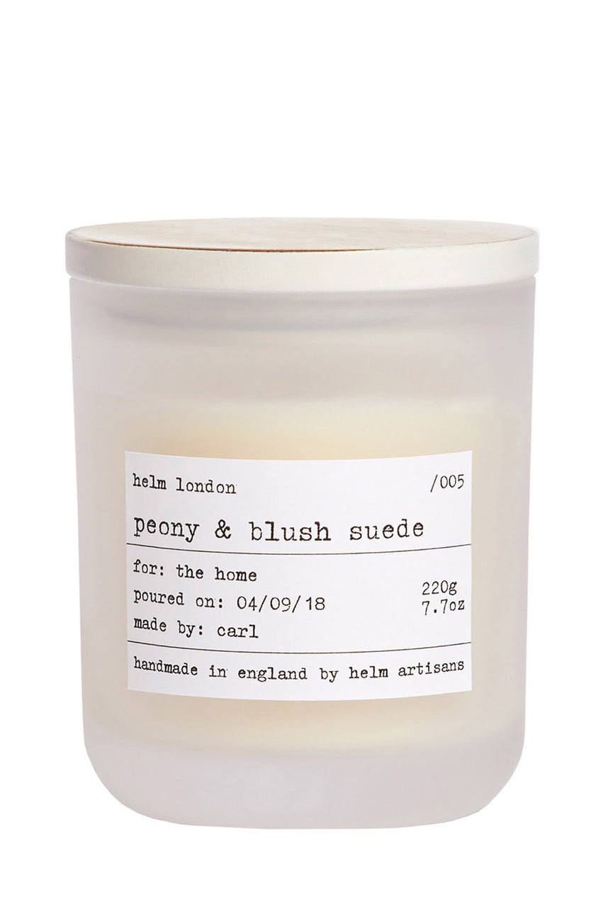 Helm London Peony & Blush Suede Luxury Candle
