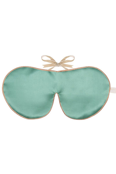 Pure Mulberry Silk Eye Mask in Jade by Holistic Silk