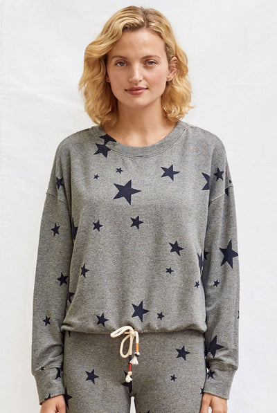 Stars Cinched Sweatshirt by Sundry