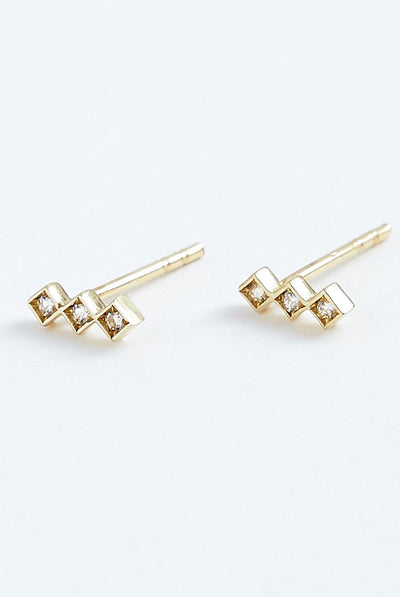 Stephanie Grace Jewellery Triplet Studs
