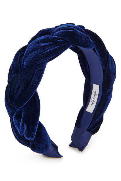 Sofia Braided Headband - Deep Blue by Alice & Blair