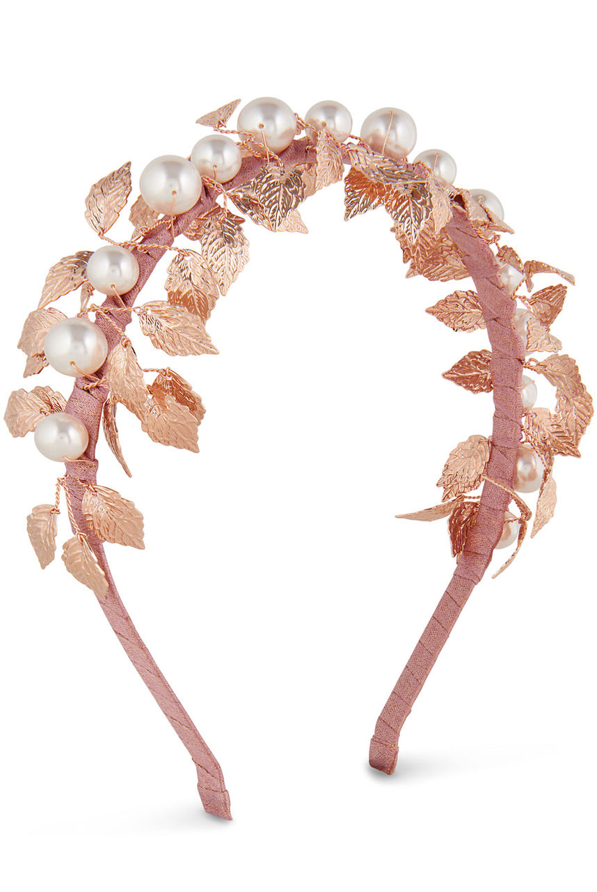 Alice & Blair Esme Headband - Misty Rose Gold - Gold