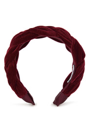 Sofia Braided Headband - Maroon by Alice & Blair