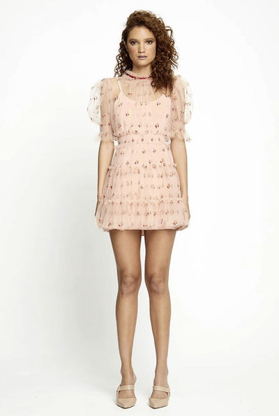Alice McCall Cowboy Tears Mini Dress - Tea Rose