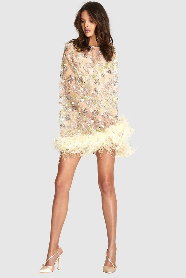 The Celestial Feather Dress by alice McCall