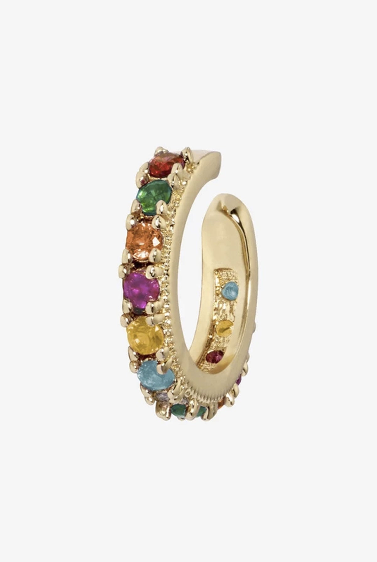 Camila Carril Rosalind Ear Cuff Rainbow - One Size Gold