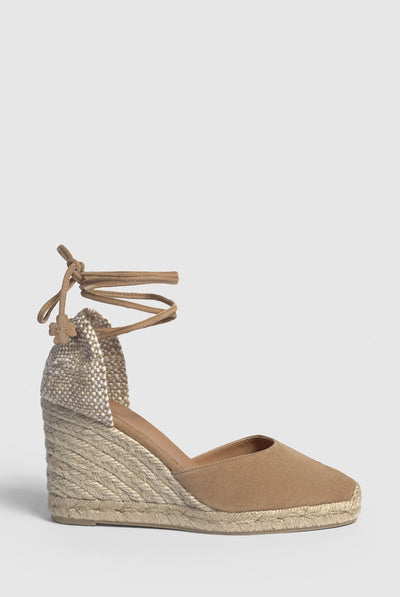 Castañer Carina. Espadrille with wedge made of suede