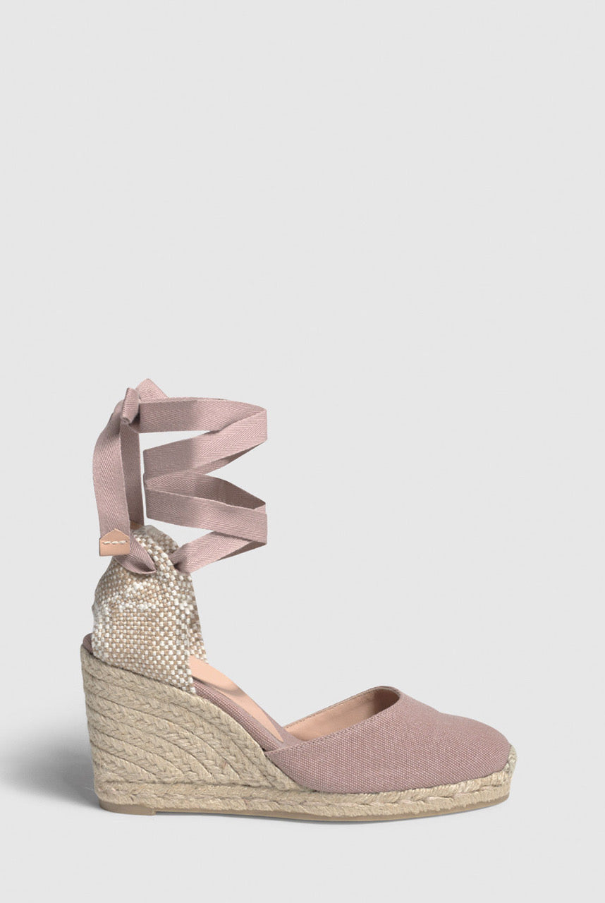 Castañer Carina. Wedge espadrille made of canvas 9cm - Dusty Pink - EU36 Dusty Pink