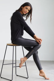 Faux Leather Zipper Legging by Commando