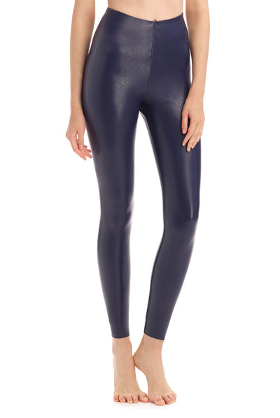 Faux Leather Legging by Commando in Navy