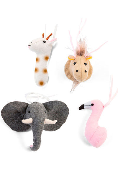 CuddleCo Tipi Play Gym felt animal toys set of 4