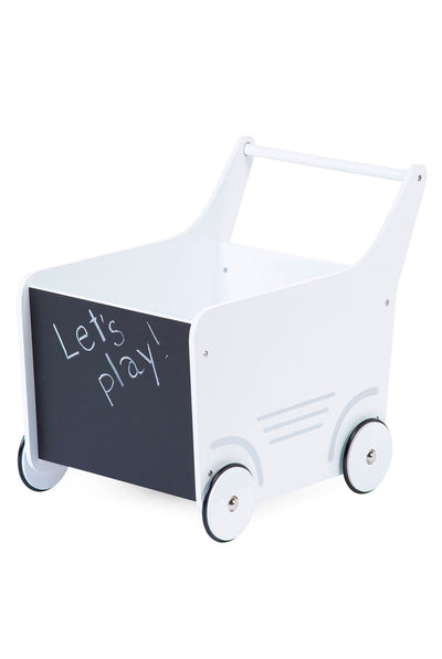 CuddleCo Wooden Toy Stroller - White