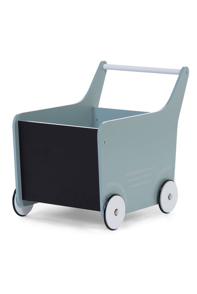 CuddleCo Wooden Toy Stroller - Mint