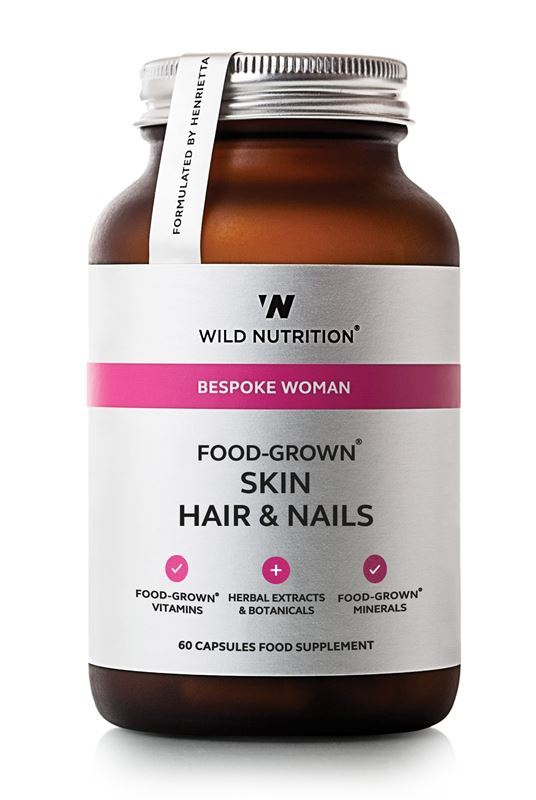 Wild Nutrition Food-Grown Skin Hair and Nails - 60 capsules