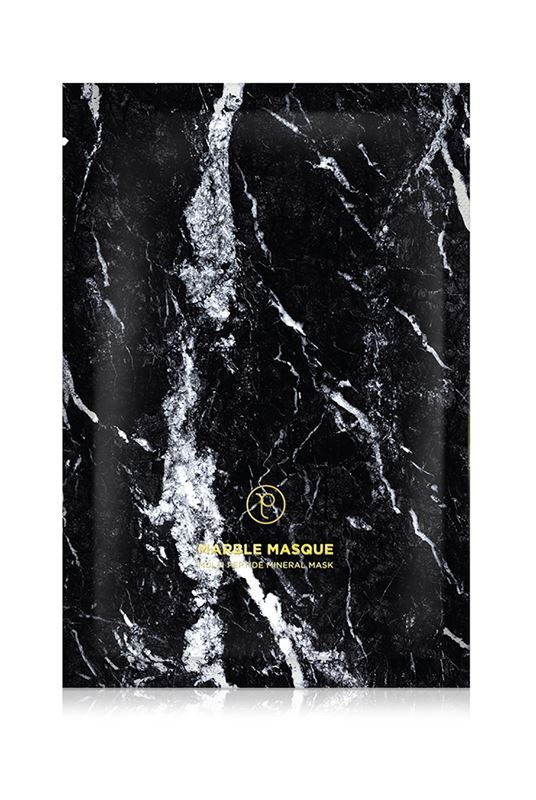 Petite Amie Intensive Rejuvenating Black Marble Mask - One Size Black