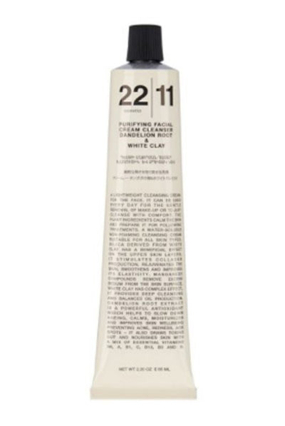 22|11 Cosmetics FC – Purifying Facial Cream Cleanser Dandelion Root + White Clay