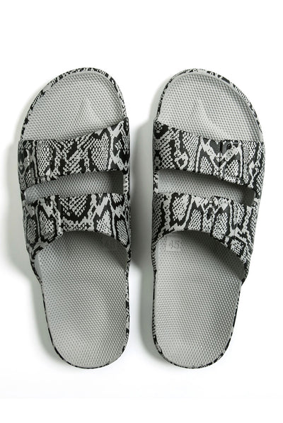 Cobra Grey Slides by Freedom Moses